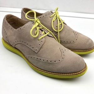 Cole Haan Maple Lime LunarGrand Wing Tip sneakers